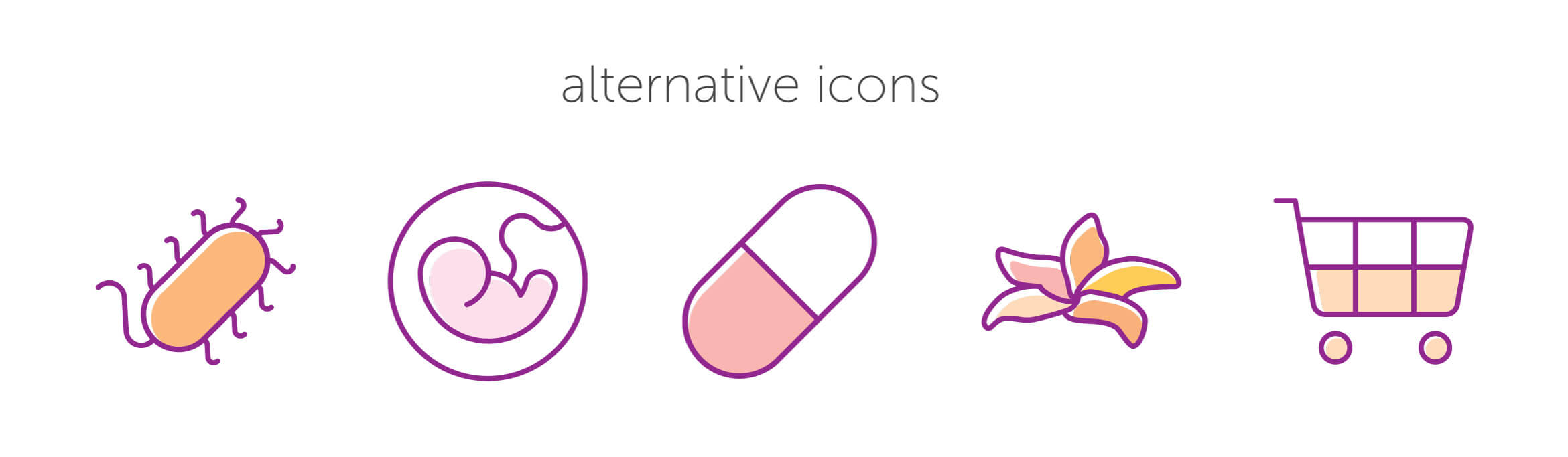 Alternative Icons für Feminella® Vagi C®.