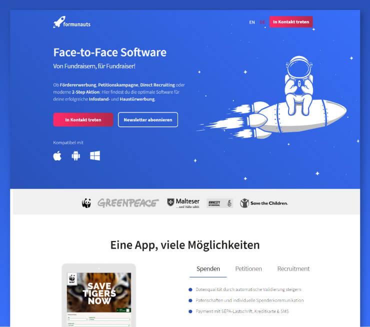 Formunauts Webseite | Redesign